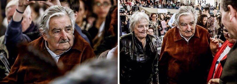 """Ex-presidente do Uruguai José """"Pepe"""" Mujica participou nesta quarta-feira 27 do seminário Democracia na América Latina, em Curitiba; ele disse aos jovens que a democracia, para eles, não imporá limites, pois será digital; e defendeu que """"essa luta não é pela democracia"""", mas por """"outra civilização""""; """"O crescimento econômico só se justifica se estiver a serviço do ser humano, de todos os seres humanos"""", disse ainda"""