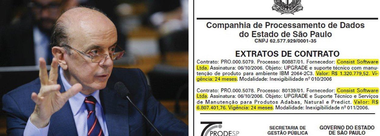 """Reportagem do jornal GGN mostra que contratos públicos com a empresa Consist Software, pivô da operação Custo Brasil, não começaram em 2009 nem a nível federal; foi o então prefeito de São Paulo, José Serra (PSDB), em 2005, que trouxe a companhia para o rol de licitações; no último ano da gestão Serra na Prefeitura de São Paulo, a Consist Software aparece no Diário Oficial do Estado como a empresa contratada para o direito de uso de um software, por R$ 1.682.971,68, descrita na modalidade """"inexigibilidade de licitação"""""""