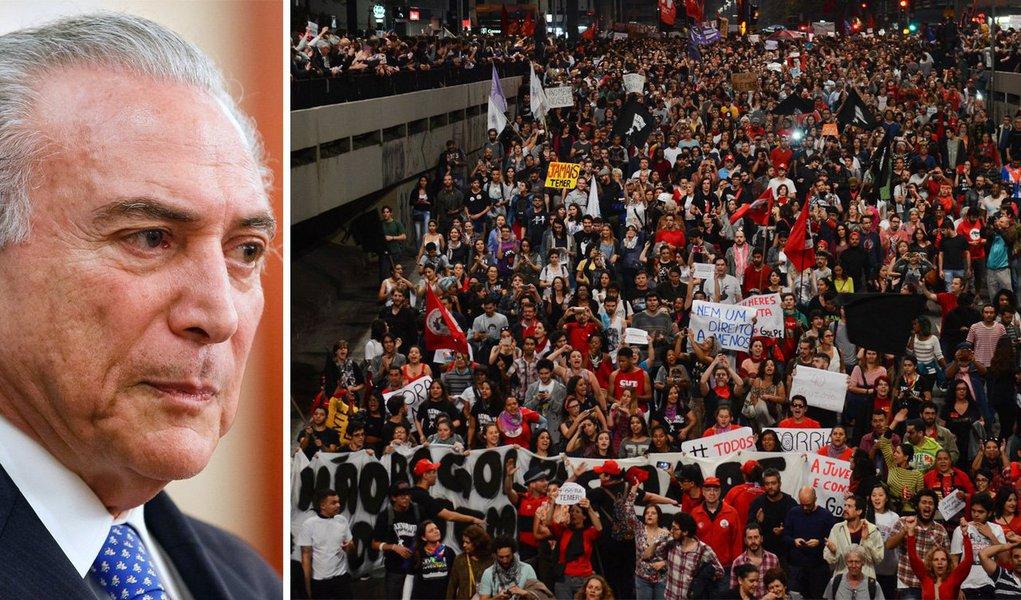A principal diferença do mega protesto contra Temer que aconteceu domingo em São Paulo para os protestos de esquerda ou de direita que vêm ocorrendo na avenida Paulista nos últimos anos é a ausência de divulgação do público que lá esteve