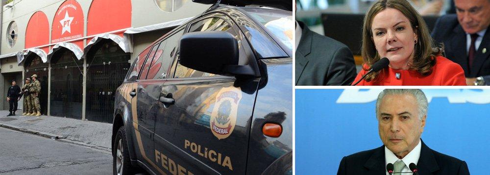 """""""A intenção evidente foi atingir Gleisi, talvez a mais combativa militante pro-Dilma na comissão do impeachment. Não foi uma operação simplesmente policial, mas política. A primeira missão de Moraes em prol à permanência de Temer. Missão cumprida"""", afirma Alex Solnik, colunista do 247; ele lembra que, """"não por acaso, na entrevista a Roberto D'Ávila, Temer afirmou que a onda de acusações a seus ministros iria parar"""""""