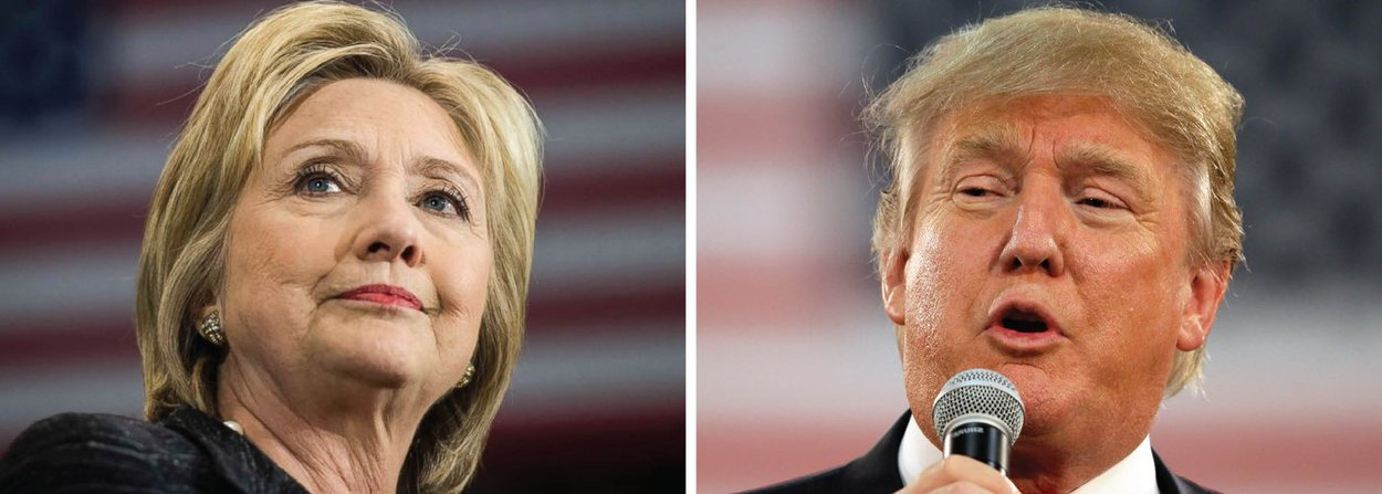 A vantagem de Hillary Clinton, candidata democrata à Presidência dos Estados Unidos, sobre o republicano Donald Trump entre os prováveis eleitores norte-americanos caiu para a casa de um dígito pela primeira vez em quase duas semanas, de acordo com pesquisa da Reuters/Ipsos divulgada nesta sexta (1º); o levantamento realizado de 27 de junho a 1° de julho mostrou uma vantagem de 9,4 pontos percentuais para a ex-secretária de Estado sobre o empresário de Nova York, uma leve redução em relação à liderança de 11,2 pontos da pesquisa anterior feita no período de cinco dias terminado em 28 de junho