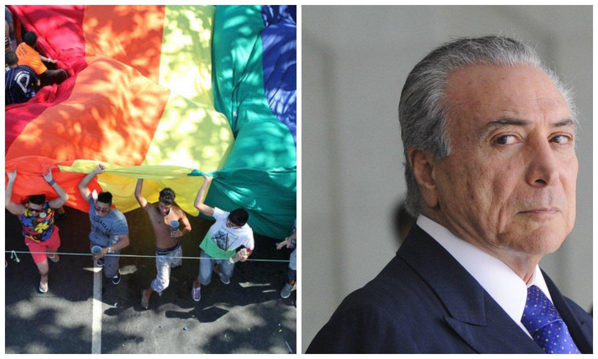 O jornalista Thiago Coacci revela que, mais uma vez, o interino Michel Temer se recusou a receber ativistas LGBT para discutir políticas para o setor; ele também publicou uma carta em que os ativistas pedem que Temer mantenha conquistas, promova a diversidade e evite retrocessos; confira a íntegra
