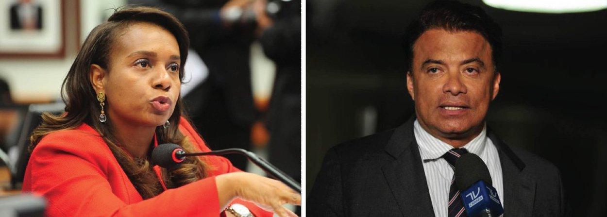 """A aprovação do relatório pela cassação do presidente afastado da Câmara, Eduardo Cunha, foi definido pelos votos de Tia Eron (PRB-BA) e Wladimir Costa (SD-PA); nesta terça (14), antes do início da reunião do Conselho de Ética, havia suspense em torno do voto da deputada baiana, que ainda não havia declarado a sua decisão; citando Darcy Ribeiro e Umberto Eco, durante o seu voto, Tia Eron disse que é preciso trabalhar para não """"chafurdar o Brasil""""; já Wladimir Costa, que já havia declarado ser contra o relatório, mudou de posição no último momento e votou pela cassação de Cunha"""