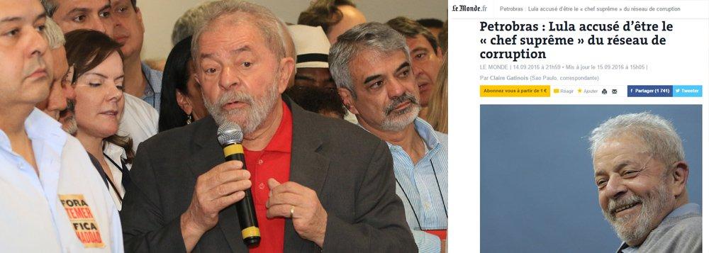 """""""Uma verdadeira inquisição"""", publica o jornal francês Le Monde, que entrevistou o sociólogo Mathias Alencastro; """"Poucos dias após o impeachment de Dilma, a acusação do promotor é um assassinato político contra Lula e o PT"""", conclui o veículo; outras publicações internacionais, como o Chicago Tribune, dos EUA, apontou fragilidade na denúncia do MP"""