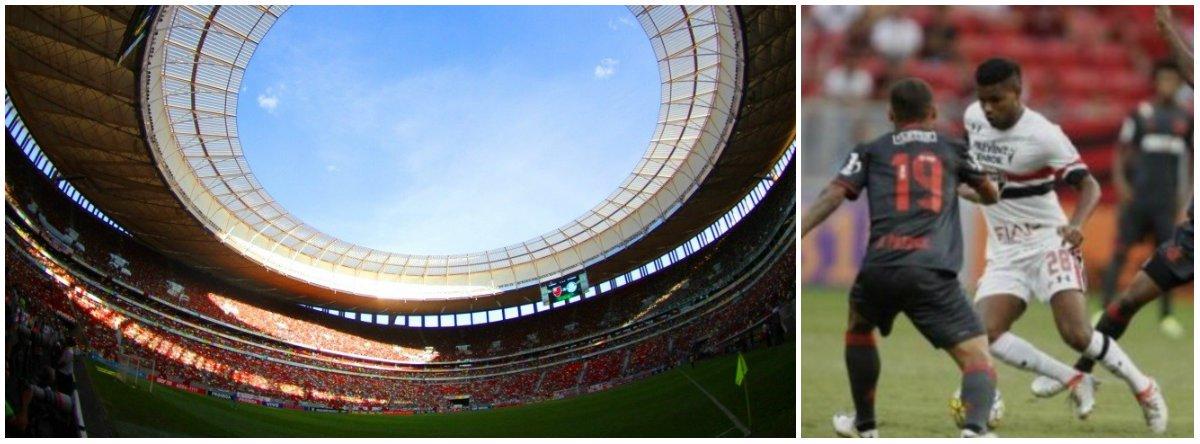 A nona rodada do Campeonato Brasileiro continuou pegando fogo; no Mané Garrincha, Flamengo e São Paulo fizeram uma partida emocionante e empataram em 2 a 2; outrogrande destaque das partidas iniciadas às 16h (de Brasília) foi o Corinthians; o Timão bateu o Botafogo por 3a 1 e entrou no G-4 do Campeonato Brasileiro. O Figueirense triunfou diante do Internacional por 3 a 2; na Ilha do Retiro, o Sport derrotou o Fluminense por 2 a 1, com um gol já aos 45 minutos do segundo tempo