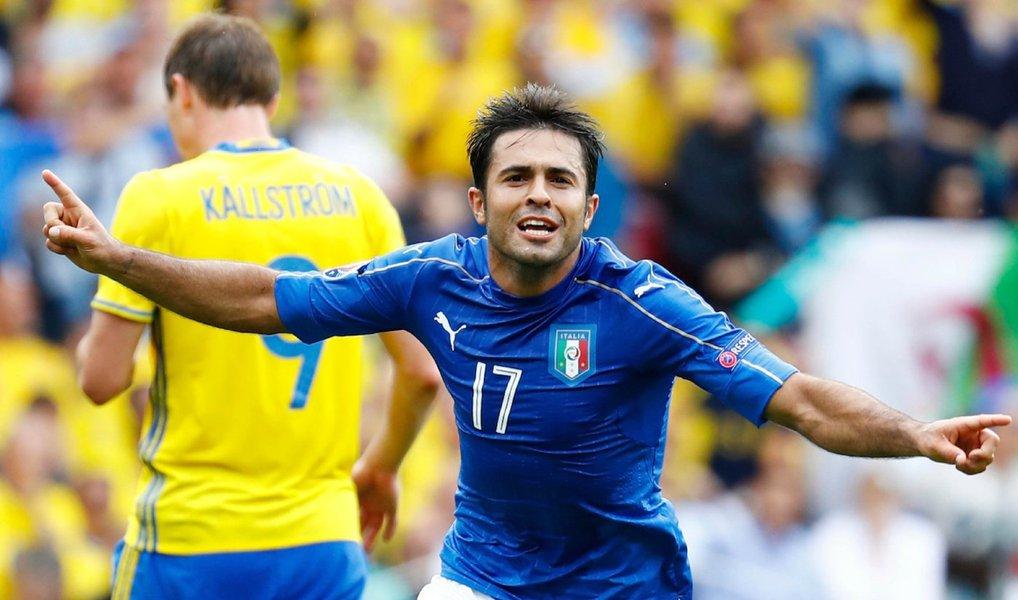 A seleção italiana avançou nesta sexta-feira para a próxima fase da Euro 2016 após Eder marcar faltando dois minutos para o final do tempo regulamentar e garantir uma vitória por 1 x 0 sobre a Suécia em Toulouse