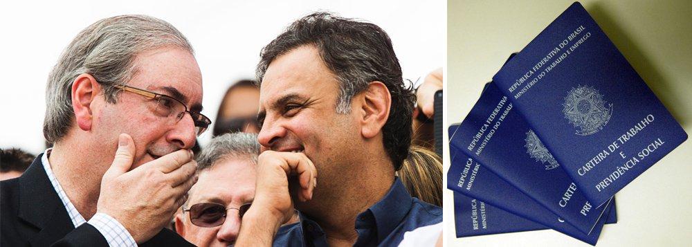 """Esse foi o preço pago pela população brasileira pela aliança entre o senador Aécio Neves (PSDB-MG) e o ex-deputado Eduardo Cunha (PMDB-RJ), que paralisou o País com a política do """"quanto pior, melhor"""", colocada em marcha para criar as condições para o afastamento da presidente Dilma Rousseff; dados foram divulgados hoje pelo Ministério do Trabalho e representam o pior resultado desde 1985; além da perda de postos de trabalho, houve ainda uma queda de 2,56% na renda média dos trabalhadores; no início de 2015, um dos líderes do PSDB, o ex-governador Alberto Goldman, indicou o caminho, ao dizer que o impeachment só viria se houvesse deterioração econômica – ou seja, """"quanto pior, melhor"""""""