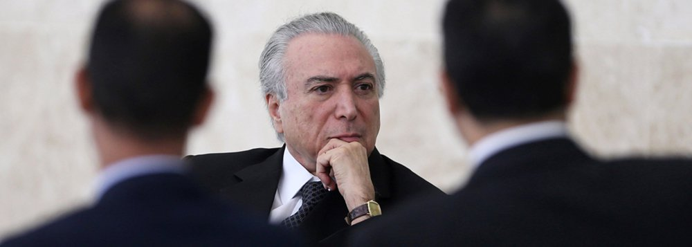 Brazil's interim President Michel Temer attends a credentials presentation ceremony of several new diplomats, at Planalto Palace in Brasilia, Brazil, May 25, 2016. REUTERS/Adriano Machado