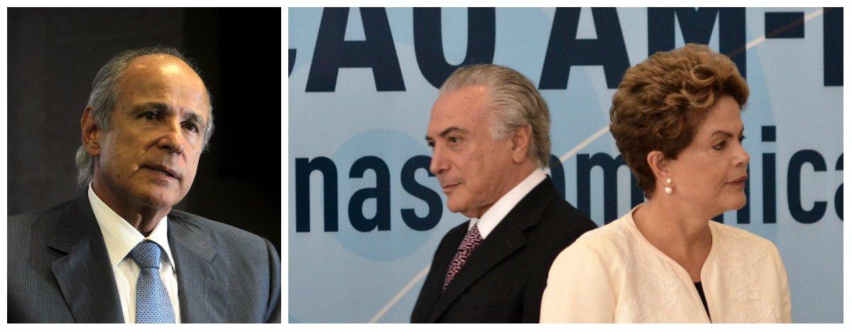 Otávio Azevedo, ex-presidente da Andrade Gutierrez, disse ter pago R$ 1 milhão à chapa Dilma-Temer, em 2014, como propina disfarçada de doação eleitoral, na ação que corre no Tribunal Superior Eleitoral e pede a cassação da dupla; se a ação vier a ser julgada neste ano, e houver a condenação, o Brasil terá novas eleições em 2016; depois de ser acusado de segurar esse processo para jogá-lo para 2017, quando haveria eleições indiretas, o ministro Gilmar Mendes disse que não controla o relógio do TSE e afirmou que, se o relator afirmar que o caso está pronto para votar, o colocará em pauta