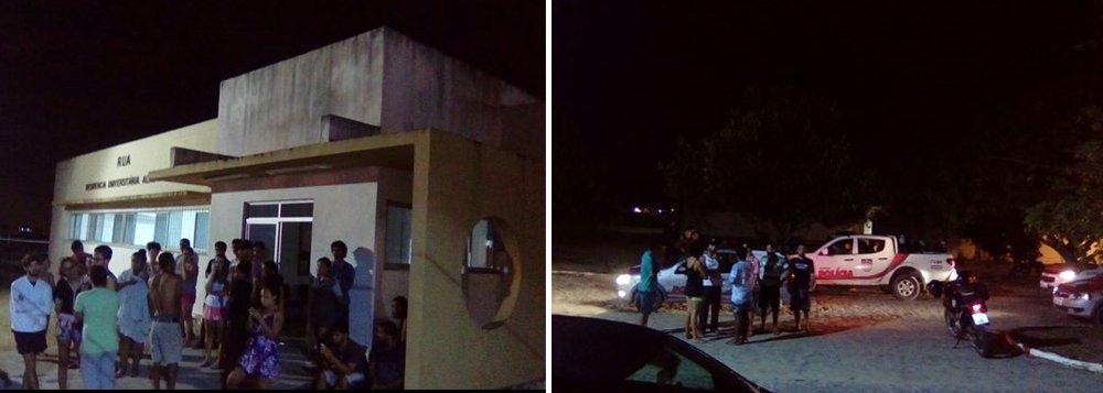 Criminosos armados invadiram a Residência da Universidade Federal de Alagoas (Ufal), renderam e agrediram um vigilante e fugiram com equipamentos eletrônicos; na fuga, os criminosos chegaram a efetuar disparos de arma de fogo para o alto, na tentativa de intimidar estudantes e vigilantes que estavam no campus