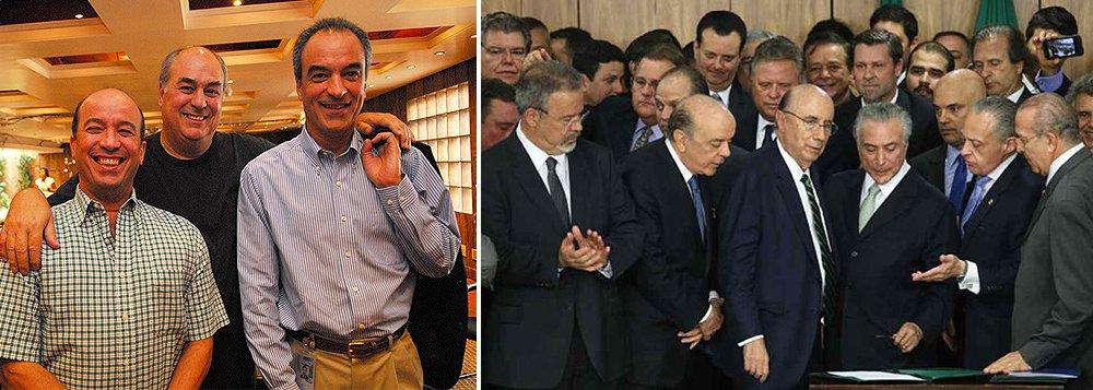 """""""A delação de Machado, feita em troca da conversão de uma pena de 20 anos trancafiado por três anos de prisão domiciliar, traça um quadro amplo da degradação da política partidária brasileira, como nunca se viu. São citados 23 políticos de oito partidos (PMDB, PT, DEM, PSDB, PP, PSB,PCdoB e PDT)"""", diz o jornal dos irmãos Marinho; """"Não restam mocinhos nessa história. Trata-se de reconstruir o sistema de representação política enquanto se espera que as instituições da República façam o trabalho de reinstituição da ética na vida pública, com a devida punição de todos os culpados, independentemente de partido"""""""