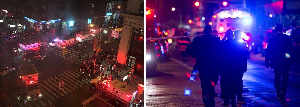 O prefeito de Nova York, Bill de Blasio, atendeu a imprensa e disse que a explosão foi intencional, mas que não há indícios, até o início das investigações, de que se trata de um ato terrorista