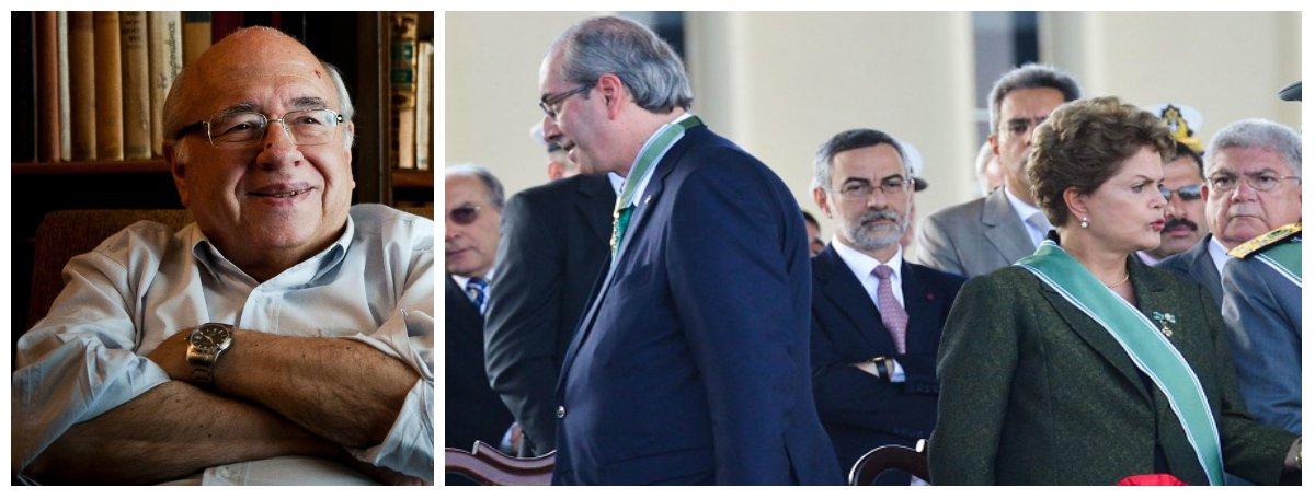 """""""Depois da provável cassação da Dilma pelo Senado, ainda falta um ato para que se possa dizer quela commedia è finita: a absolvição do Eduardo Cunha"""", diz o escritor Luis Fernando Verissimo, um dos maiores intelectuais brasileiros; """"Pela lógica destes dias, depois da cassação da Dilma, o passo seguinte óbvio seria condecorarem o Eduardo Cunha. Manifestantes: às ruas para pedir justiça para Eduardo Cunha!""""; neste fim se semana, Le Monde e New York Times ridicularizam o Brasil; no jornal francês, o impeachment foi chamado de golpe ou farsa; no NYT, Dilma é devorada por ratos;Verissimo faz ainda um lembrete: """"evite olhar-se no espelho e descobrir que, nesta ópera, o palhaço somos nós"""""""