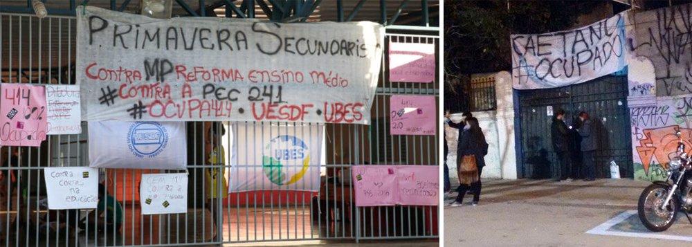 União Brasileira dos Estudantes Secundaristas (Ubes) divulgou no fim da tarde de hoje (18) mais um balanço das ocupações estudantis; em todo o país já são mais de 769 escolas e campi universitários e da rede federal de ensino tecnológico, nos estados de MG, RN, RS, GO, RJ, AL, MT, PE, RO, PA, ES, TO, BA, SC, SP, MA e PI; noParaná, onde os professores estão em greve desde ontem, estão ocupados 688 colégios estaduais e dez campi de universidades estaduais e federais
