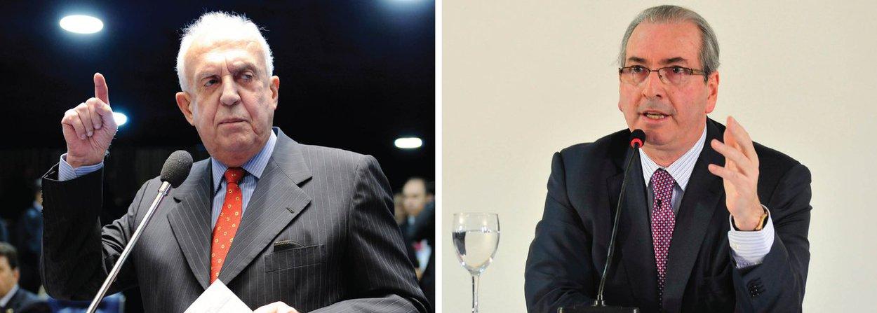 """Deputado Jarbas Vasconcelos (PMDB-PE) comemorou a renúncia de Eduardo Cunha que, segundo ele, demorou para acontecer; """"Cunha ficava brincando com isso. Réu em duas ações no Supremo Tribunal Federal, cheio de inquérito e abusando da nossa paciência"""", disse; peemedebista pediu celeridade no processo para eleger um novo presidente porque """"a Câmara está sem comando"""", mesmo que para isso a Casa tenha que fiar sem recesso"""