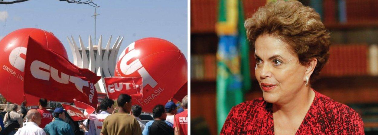 """Executiva Nacional da Central Única dos Trabalhadores divulga posicionamento em que esclarece não ser favorável à convocação de um plebiscito sobre novas eleições, o que reduziria o mandato constitucional da presidente Dilma Rousseff; """"A CUT esclarece que esta não é a posição da central. Ao mesmo tempo, a CUT considera que as iniciativas dos senadores ou da própria presidenta Dilma fazem parte de suas prerrogativas, que respeitamos se isto contribuir para a saída democrática na luta contra o golpe"""", diz o texto"""