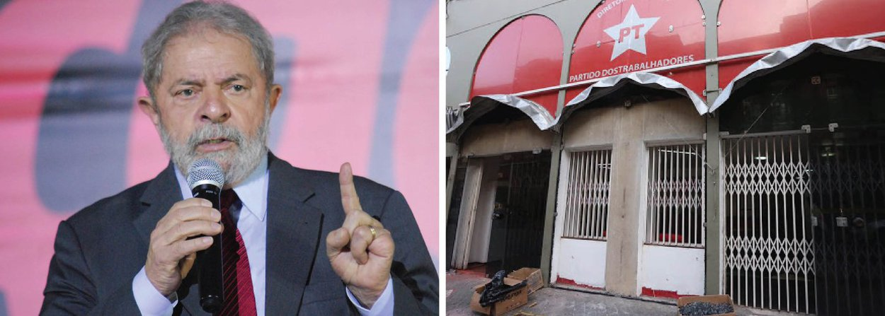 """O ex-presidente Luiz Inácio Lula da Silva afirmou, em nota, nesta quinta (30), que os ataques contra a sede do PT em São Paulo, que ocorreram na madrugada e na tarde de hoje, lhe provocaram """"uma imensa tristeza"""". Ainda assim, ele avisou que isto não irá tirar a sua determinação """"para lutar por um Brasil mais justo para todos""""; no documento, Lula chama a atenção para as """"muitas cenas de intolerância e ódio"""" que estão ocorrendo no país e se solidariza com o presidente do partido, Rui Falcão, e com todos os funcionários e militantes; """"Nenhuma bomba, pé-de-cabra ou agressão vai tirar nossa determinação de lutar por um Brasil mais justo para todos"""", afirmou"""