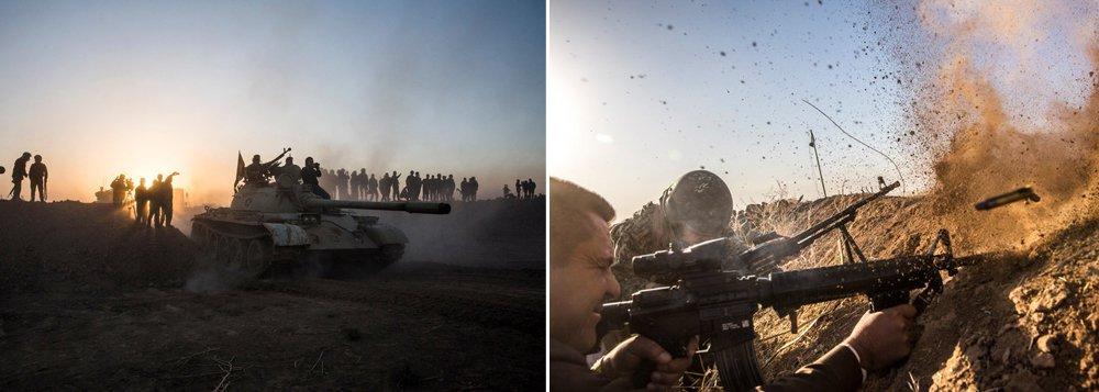 Forças do governo do Iraque, com apoio aéreo e terrestre da coalizão liderada pelos Estados Unidos, iniciou uma ofensiva nesta segunda-feira, 17, para expulsar o Estado Islâmico da cidade de Mosul, último grande reduto dos militantes no país; cerca de 30 mil soldados iraquianos, milícias curdas peshmerga e combatentes tribais sunitas participam da ofensiva para afastar de 4 a 8 mil militantes do Estado Islâmico de Mosul, cidade com 1,5 milhão de habitantes