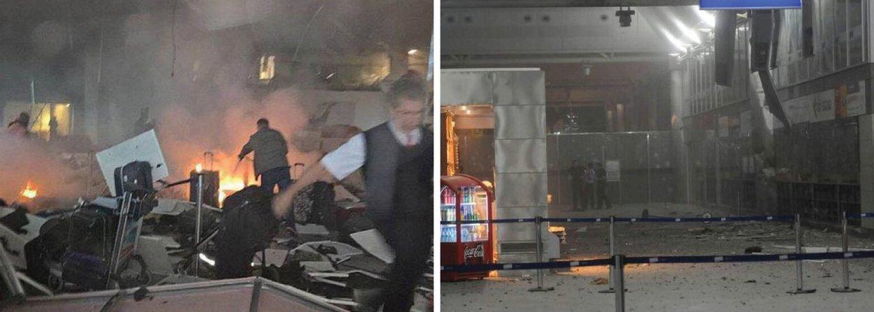 O ministro da Justiça da Turquia, Bekir Bozdag, informou que 31 pessoas morreram e mais 147 ficaram feridas no duplo atentado no Aeroporto de Ataturk, em Istambul na noite desta terça (28), durante confronto com a polícia local; a informação do ministro é da emissora Haberturk na sua conta no Twitter; já a agência turca Dogan informou que pelo menos 32 pessoas morreram e 88 ficaram feridas; mais cedo, a agência Associated Press, que citou uma fonte do governo de Ancara, informou sobre 50 mortos
