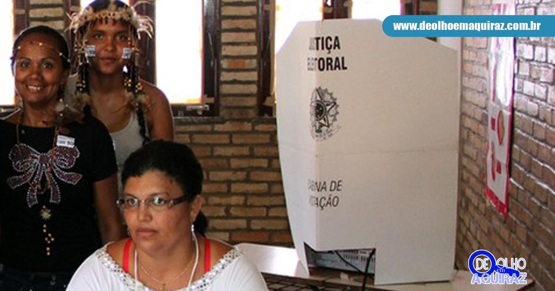 Serão instaladas 35 seções nas comunidades quilombolas, que contam com 7.091 eleitorese 26 seções nas comunidades indígenas, com um total4.659 eleitores