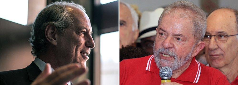 """Em vídeo, ex-ministro do governo Lula, Ciro Gomes, diz que se houver indícios de que seu ex-chefe será preso injustamente, ele irá """"sequestrar"""" o ex-presidente e colocá-lo em uma embaixada, onde ficará fora do alcance da Justiça brasileira; nesse plano, Ciro–que recentemente disse que """"será candidato a presidente em 2018 se o Lula não for""""–formaria um grupo de defesa de Lula; """"Eu quero me voluntariar para formar um grupo, com juristas nos assessorando, que se a gente entender que o Lula pode ser vítima de uma prisão arbitrária, a gente vai lá e sequestra ele e entrega ele numa embaixada. Isso eu topo fazer"""", declarou; assista"""