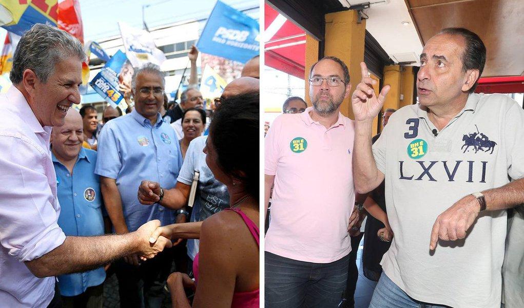 Pesquisa Datafolha divulgada nesta quarta-feira (12) mostra João Leite (PSDB) com 36% das intenções de voto, contra 29% atribuídos ao seu adversário, Alexandre Kalil (PHS); brancos e nulos representam 22% e os indecisos são 13%; a pesquisa, contratada pela Folha de S.Paulo e pela TV Globo, tem margem de erros de três pontos percentuais, para mais ou para menos, e entrevistou 1.024 pessoas