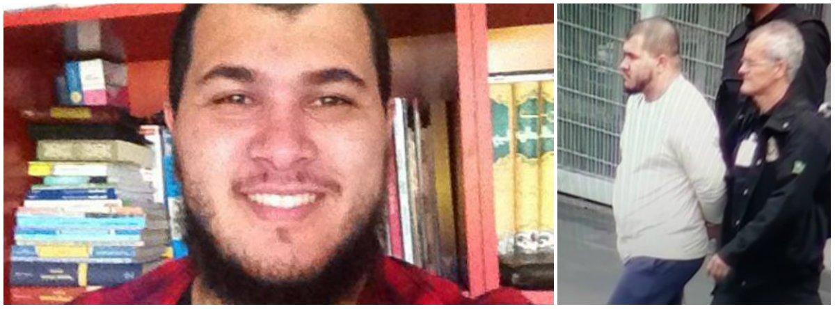 """Parentes de Vitor Magalhães (Vitor Abdullah), de 23 anos, suspeito de participação em atos preparatórios de terrorismo na Olimpíada, descartaram qualquer possibilidade de o rapaz estar envolvido com o Estado Islâmico; o sogro do rapaz, Aparecido Alves da Silva, 53 anos, contou que sua filha, a mulher de Vitor, está muito abalada. """"Até agora não vi nenhuma prova contra ele. Religião não é crime. A Larissa está muito aflita porque não tem notícias desde ontem, quando o levaram. Nós não temos condições financeiras para pagar um advogado que acompanhe o Vitor"""", disse ele"""