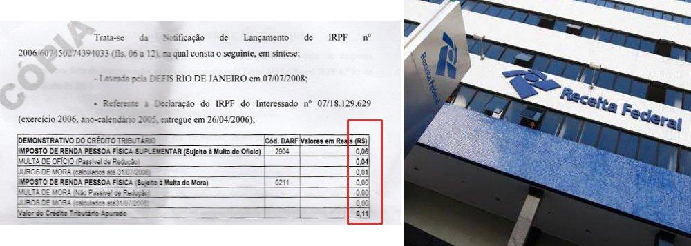 """Jornalista Fernando Brito ironiza a """"velocíssima decisão"""" da Receita Federal de cancelar a isenção fiscal do Instituto Lula, apenas 24 horas depois de este ter apresentado suas justificativas e documentos; Brito foi acusado de sonegar R$ 0,06 da Receita, recorreu e apurou-se que a Receita é quem lhe devia, cerca de R$ 6 mil; """"Mais quatro anos se passaram e nada de pagarem, até hoje. Agradecerei, penhorado, se a Receita Federal tratar-me com 0,000001% do """"rigor"""" e da 'celeridade' com que trata o cidadão Luis Inácio Lula da Silva"""", critica"""
