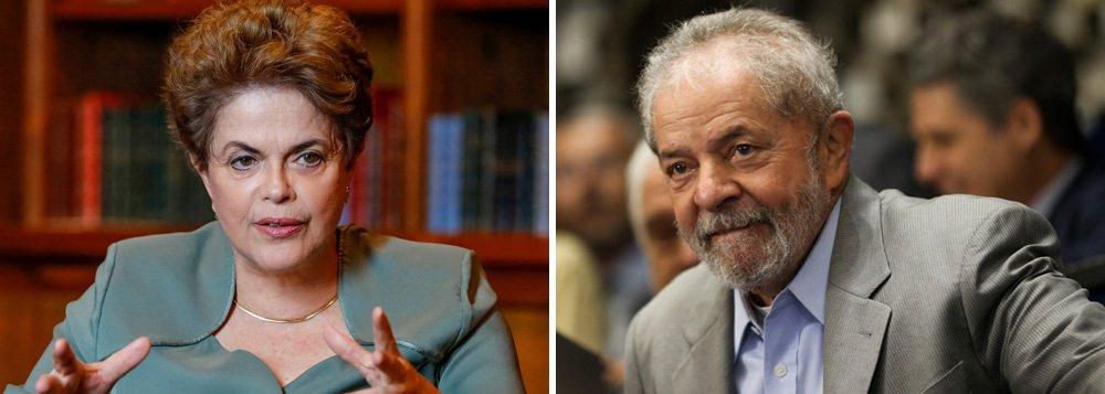 """Presidente afastada Dilma Rousseff se manifestou pelas redes sociais sobre a denúncia apresentada pelo Ministério Público Federal nesta quarta-feira 14 contra o ex-presidente Lula, no caso do apartamento no Guarujá; ela lamentou a """"denúncia sem provas"""" feita contra Lula e sua família e diz que ela """"atende ao objetivo daqueles que pretendem impedir sua candidatura em 2018""""; ex-presidente foi acusado de cometer os crimes de corrupção e lavagem de dinheiro; """"Mais uma vez, grave injustiça é cometida sem fundamentos reais"""", diz Dilma, que acaba de sofrer um golpe parlamentar"""