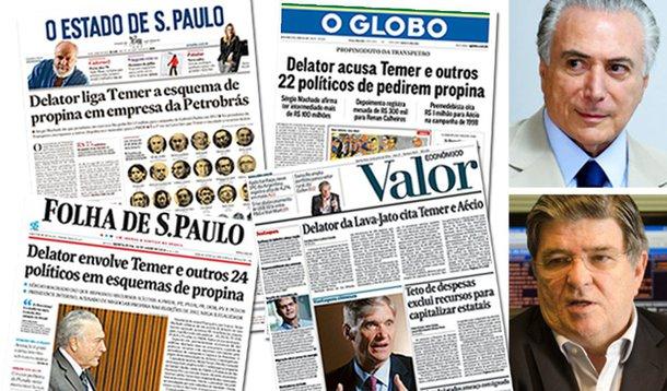 Por que motivos a grande mídia, que tudo fez para desgastar o PT e suas lideranças e para criar o clima que possibilitou o afastamento de Dilma, agora se apressa em divulgar, em amplas manchetes, os descalabros do governo Temer e de seus integrantes, incluindo acusações contra o próprio presidente interino?