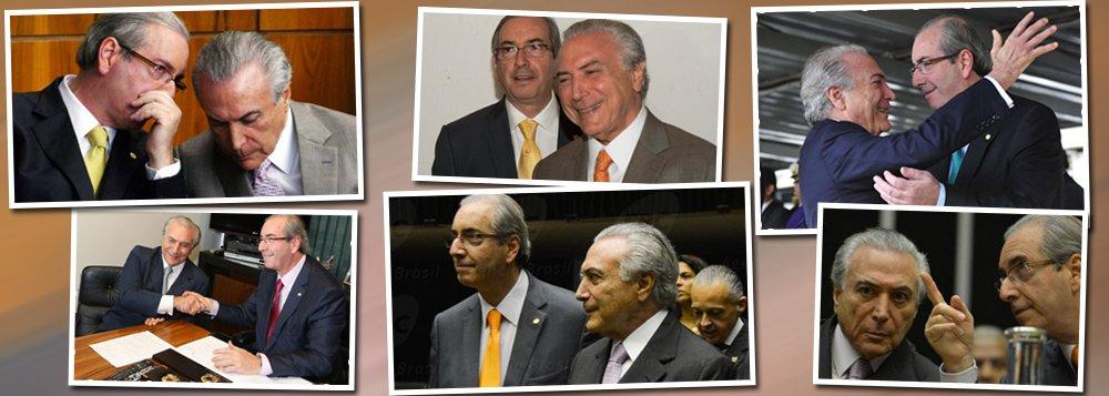 """""""Temer ajudou a adiar, mais uma vez, o dia de sua degola. Cunha ajudou Temer a remover o caos em que a Câmara mergulhou a partir do dia em que ele foi afastado da presidência, mas não se afastou"""", escreve Alex Solnik, colunista do 247; """"Salvar Cunha da cassação foi o preço que Temer pagou para tirar o bode da sala. O roteiro parece ser o mesmo da renúncia de Renan à presidência do Senado, quando, em 2007, esteve à beira da cassação: eu renuncio e vocês não me cassam"""", lembra o jornalista, destacando, porém, que a situação era outra e que """"quem salvou Renan não se expôs""""; """"Agora é diferente. Quem salvar Cunha será carimbado como seu cúmplice. Como quem se vê ameaçado com a perda de seu foro privilegiado. Mas tem gente que prefere correr esse risco para evitar um mal maior"""""""