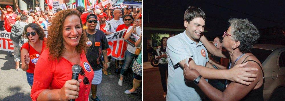 Candidata do PCdoB, Jandira Feghali sobe dois pontos em relação à última pesquisa, batendo 8%, e consolidando seu nome para a disputa no segundo turno; o candidato Marcelo Crivella (PRB) mantém o favoritismo com 31% das intenções de votos;Marcelo Freixo, do PSOL, cai três pontos, para 9%; Flávio Bolsonaro, também em queda, empata com Jandira, saindo de 11% para 8%; já Pedro Paulo (PMDB), candidato do prefeito Eduardo Paes, sobe três pontos e registra 9%, empatado com Jandira
