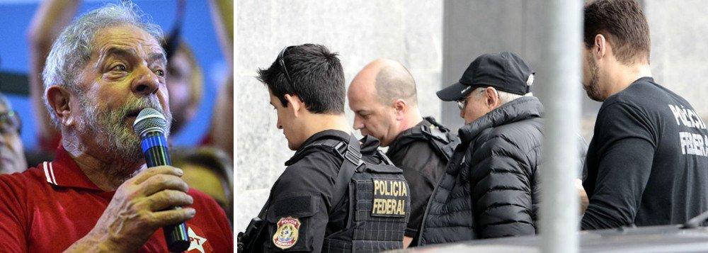 """Em entrevista à Rádio Povo do Ceará, o ex-presidente Lula comentou a prisão do ex-ministro Guido Mantega, nesta quinta-feira 22, enquanto acompanhava a esposa em uma cirurgia no Hospital Albert Einstein, em São Paulo; """"Parece até que se chama operação boca de urna. Está chegando perto das eleições, eles vêm para cima do PT"""", comentou Lula; """"As pessoas poderiam tratar o Guido como ele deveria ser tratado"""", acrescentou"""