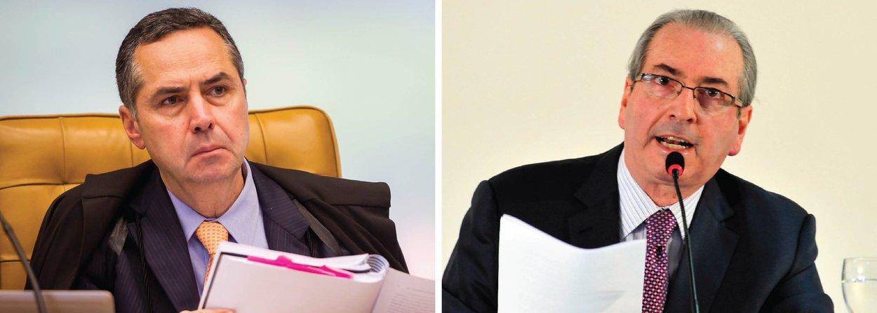 O ministro Luís Roberto Barroso, do Supremo Tribunal Federal (STF), negou nesta quinta (23) pedido do presidente afastado da Câmara, Eduardo Cunha (PMDB-RJ), que queria transitar livremente pela casa legislativa para se defender no processo de cassação de seu mandato; Barroso rejeitou o pedido por questões processuais, alegando que a jurisprudência do tribunal já definiu que decisões monocráticas de magistrados do Supremo não podem ser contestadas por meio de um habeas corpus, instrumento utilizado pela defesa de Cunha para solicitar o acesso do peemedebista às dependências da Câmara