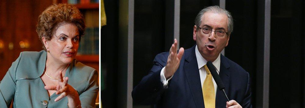 """Presidente afastada comenta pela primeira vez a cassação de Eduardo Cunha, principal articulador do golpe contra ela, quando era presidente da Câmara dos Deptuados; """"Antes tarde do que nunca, mas os custos políticos da demora feriram a democracia brasileira com o golpe do impeachment"""", afirmou"""