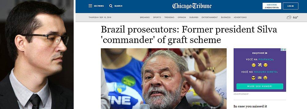 """Chicago Tribune descreve que os promotores que apresentaram denúncia contra o ex-presidente Lula fizeram declarações """"impressionantes"""" e uma """"litania"""" de acusações, mas foram econômicos ao apresentar provas, o que, segundo o jornal, pode colocar em xeque o futuro da Operação Lava Jato"""