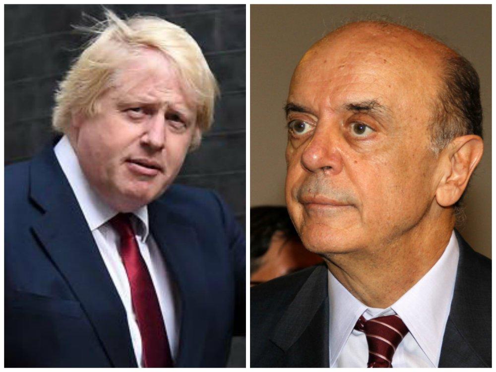 """""""Nossa ideia é abrir imediatamente uma negociação entre o Mercosul e o Reino Unido, que tem uma economia mais aberta e uma posição muito importante em relação ao investimento no Brasil, mas importa relativamente pouco do Brasil"""", disse o chanceler José Serra, em entrevista ao Financial Times; """"Assim que o novo ministro das Relações Exteriores [Johnson] tomar posse, farei contato com ele para reforçar as iniciativas existentes e explorar como fazê-las progredir sob os auspícios do Mercosul"""""""