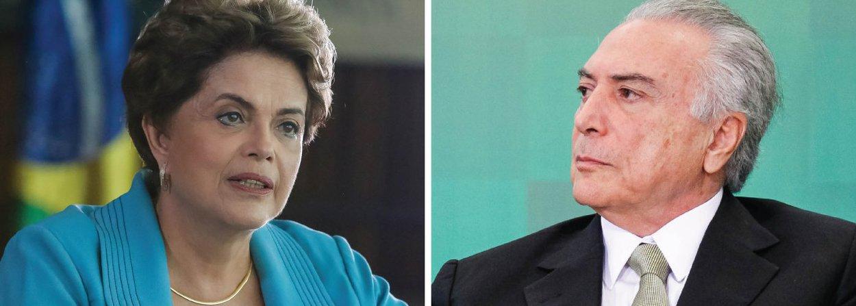 """Em postagem no Facebook nesta tarde, a presidente eleita Dilma Rousseff disse que """"o governo interino e provisório, ao tempo que apregoa ajuste fiscal, faz o rombo crescer R$ 125 bilhões até 2018"""", prejudicando a recuperação da economia e a população; """"Não tem nem responsabilidade fiscal nem responsabilidade social. De um lado estoura os limites prudenciais do gasto e de outro lado quer cortar os gastos em saúde e educação, privatizar tudo e vender o pré-sal"""", aponta a presidente; ela chama ainda de """"verdadeiro cheque especial"""" o limite de gastos pedido pelo governo Temer ao Congresso """"muito superior ao que era necessário"""", a fim de que """"permita 'bondades' com o objetivo de garantir o impeachment"""""""