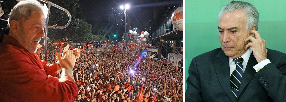 """""""A pesquisa Vox Populi favorável a Lula está longe de resolver os principais problemas do Partido dos Trabalhadores, mas demonstra o fiasco absoluto de Michel Temer para jogar nas costas dos antecessores a conta pelos fracassos de seu governo, incapaz tanto de reativar a economia como de ganhar apoio popular para propostas amplamente rejeitadas, como a PEC 241 e a abertura do pré-sal"""", avalia Paulo Moreira Leite; """"Confirmado, pela maioria da população, como o melhor presidente que o país já teve, Lula reforça sua defesa contra a perseguição da Lava Jato. Os números demonstram que, para a maioria dos brasileiros, os acertos de seu governo foram mais importantes e decisivos do que erros e falhas"""", afirma"""