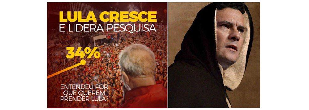 Na prática, segundo a sondagem, o magistrado da Lava Jato é o principal cabo eleitoral do petista. Os números do Vox Populi também suscitam a seguinte pergunta: e agora Moro, vai prender Lula?