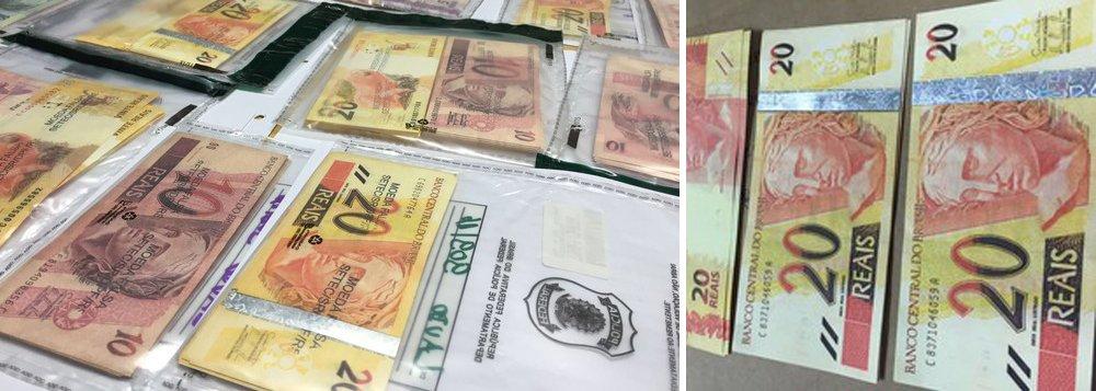 A Polícia Federal (PF) deflagrou a Operação Inkjet 2, com o objetivo de desarticular grupo que falsificava dinheiro em Porto Alegre; estão sendo cumpridos dois mandados de prisão preventiva, dois de busca e apreensão e dois de condução coercitiva na capital gaúcha, em Osório (RS) e em Guapó (GO) segundo a investigação, o grupo fabricava cerca de R$ 100 mil por mês em notas falsas; o dinheiro era negociado por meio das redes sociais com compradores de todo o Brasil