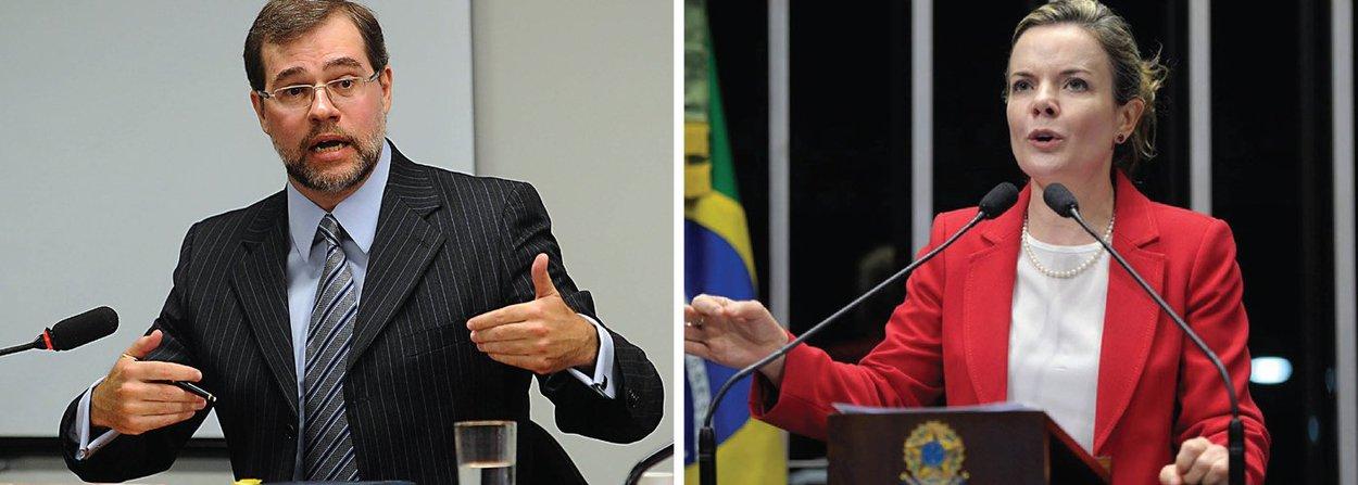O ministro do Supremo Tribunal Federal (STF) Dias Toffoli foi escolhido nesta quinta (30) novo relator da ação na qual o Senado recorreu à Corte para anular os mandados de busca e apreensão cumpridos no apartamento funcional da senadora Gleisi Hoffmann (PT-PR), durante a Operação Custo Brasil; o ministro Celso de Mello havia sido designado relator, mas renunciou; Toffoli foi o responsável por liberar o ex-ministro Paulo Bernardo da prisão ontem