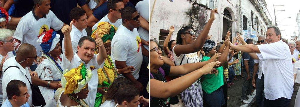 """""""Hoje é dia de comemorar o Dois de Julho, a liberdade da Bahia e a Independência do Brasil"""", afirmou o governador Rui Costa na sua chegada ao Largo da Lapinha, em Salvador, para participar da festa em comemoração ao 193º aniversário da Independência da Bahia; ele defendeu que a data seja reconhecida em nível nacional. """"Estamos reafirmando o desejo da Bahia para que essa data seja uma data nacional, porque foi aqui que se consolidou a Independência do Brasil. Ela aconteceu na Bahia, mas representa muito para todo país""""; o governador aproveitou a boa aceitação e cumprimentou as pessoas ao longo do cortejo"""