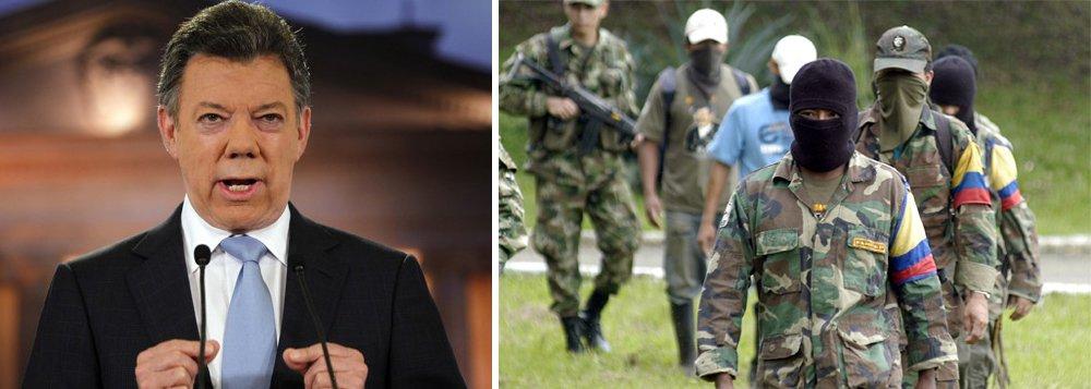 """O acordo entre o governo colombiano do presidente Juan Manuel Santos e o grupo guerrilheiro Forças Armadas Revolucionárias da Colômbia (Farc) é omais sólido já alcançado entre as partes, fator que dá um impulso adicional às negociações de paz que ocorrem em Havana, Cuba, desde 2012; o Twitter, um dos principais negociadores das Farc, Antonio Lozada, disse que o país está """"em um momento histórico. Hoje é o #últimodiadaguerra""""; nesta quinta-feira (23) deverá ser feito um anúncio oficial na presença do secretário-geral das ONU, Ban Ki-moon; desde 1964, o conflito entre o Exército e a guerrilha já matou mais de 220 mil pessoas na Colômbia"""