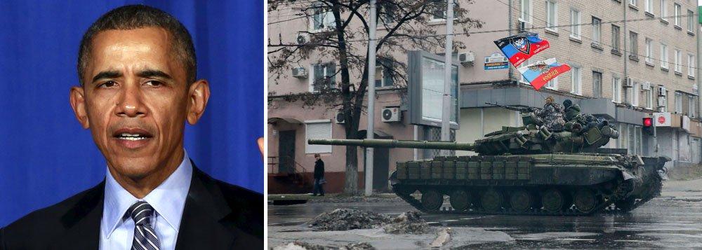 Obama solicitou que Putin adote ações para evitar um aumento acentuado nos combates no leste da Ucrânia e salientou a necessidade urgente de se avançar com a plena implementação dos acordos Minsk, disse ontem (6) a Casa Branca em um comunicado; a Organização das Nações Unidas estima mais de 9.400 mortos e mais de 21.800 feridos nos conflitos; apesar do regime de cessar-fogo estar em vigor, são constantes os relatos de violação