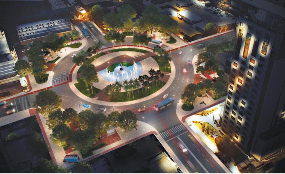 Equipes da Prefeitura receberam jornalistas para acompanhar os cronogramas de serviço. A previsão é que a nova Praça Portugal seja entregue à população em setembro, com cinco novos espaços de convivência totalmente acessíveis, novos mobiliários urbanos, paraciclo, espaços de lazer e projeto luminotécnico com lâmpadas de LED