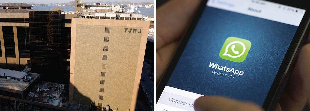 """Em protesto contra a decisão que bloqueou o aplicativo Whatsapp no Brasil, o grupo de hackers Anonymous anunciou nesta terça-feira, 19, que organizou um ataque contra o site do Tribunal de Justiça do Estado do Rio de Janeiro, jurisdição de onde partiu a ordem que suspendeu o app; segundo o Anonymous, a página do TJ-RJ saiu do ar por conta de um ataque DDoS. """"A balança da justiça hoje equilibra-se com o crime de um lado e o dinheiro do outro. Eis que aqui repetimos o gesto de V, na destruição de um símbolo que há tempos desvirtuou-se"""", disse o grupo no anúncio do ataque"""