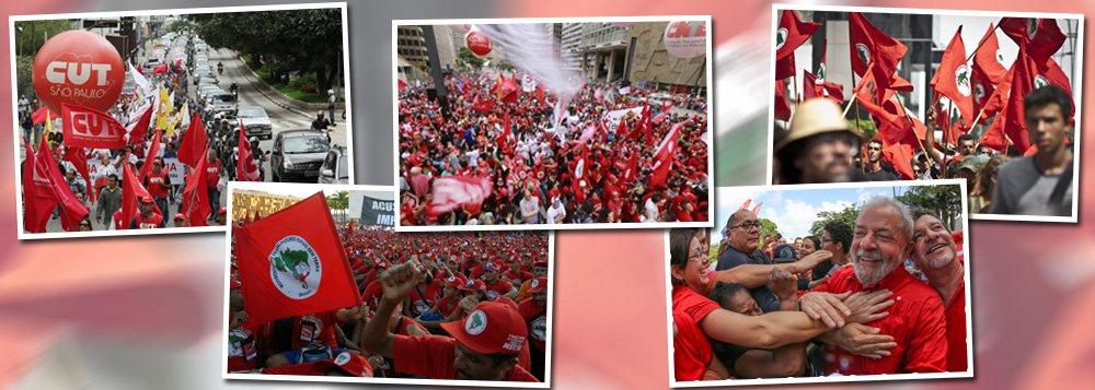 """Movimentos sociais já estão se preparando para protestos e manifestações no caso de uma eventual prisão do ex-presidente Luiz Inácio Lula da Silva; o Movimento dos Trabalhadores Sem Terra (MST) está em alerta para deflagrar protestos na região sul do País, caso o juiz federal Sérgio Moro decrete a prisão de Lula; """"Em caso de prisão, deflagraremos uma marcha até Curitiba. Não vamos permitir esse clima de fato consumado"""", disse o segundo o coordenador nacional do MST, João Paulo Rodrigues; Central Única dos Trabalhadores (CUT) também planeja atos em defesa de Lula"""