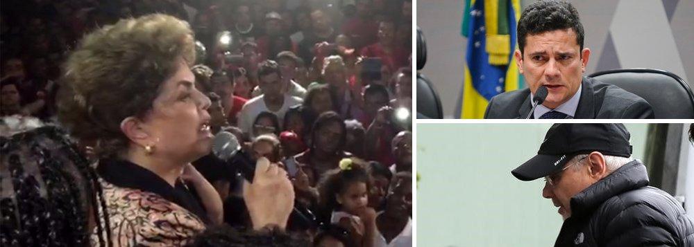 """Ao participar do comício da candidata Alice Portugal (PC do B) nesta noite em Salvador, a presidente afastada Dilma Rousseff apontou motivação eleitoral na decisão do juiz Sergio Moro de prender o ex-ministro Guido Mantega no Hospital Albert Einstein; """"O ministro estava num hospital onde sua mulher estava sendo operada de câncer. Ora, ele tem moradia conhecida. A pergunta é: por que prender? A resposta é: para influenciar na campanha eleitoral"""", disse Dilma; """"Lamentamos profundamente esse fato porque nenhum governo combateu mais a corrupção do que o meu e o do presidente Lula"""""""
