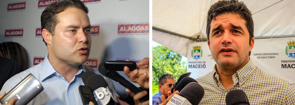 """O governador Renan Filho (PMDB) classificou como factoides os argumentos apresentados pelo comitê de Rui Palmeira (PSDB) em ação movida na qual pede a cassação do registro da candidatura da coligação encabeçada por Cícero Almeida (PMDB) e também acusa o governo do Estado de abuso de poder político na campanha; """"É factoide de quem está preocupado com as ações do governo. Hoje pela manhã, eu corri por Maceió e estou trabalhando"""", afirmou Renan; ele também revelou que o advogado do tucano estaria em situação ilegal"""